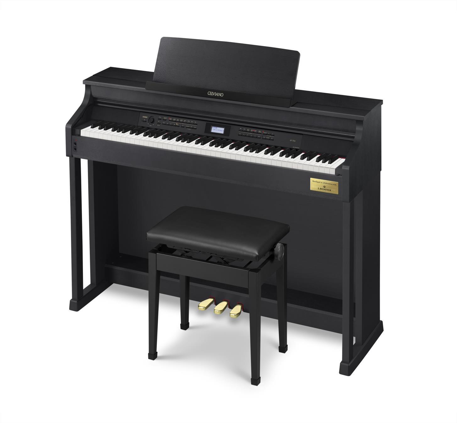 Đàn Piano Casio AP-700 với hệ thống phím cho cảm giác tự nhiên gần như của một cây grand piano có độ nhạy phím giúp truyền tải tư tưởng của người chơi vào tiếng đàn.