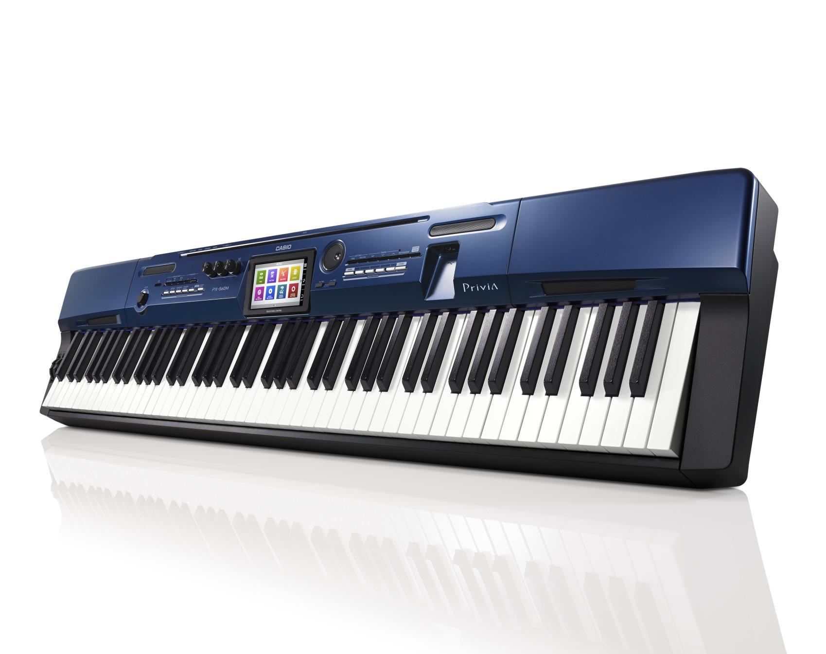 Đàn Piano Casio PX-560M mô phỏng một cách tự nhiên sức biểu cảm phong phú và sự cộng hưởng chưa từng có của một cây acoustic piano.