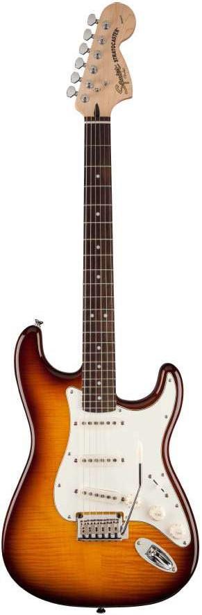 Đàn Guitar Squier Standard Strat FMT, Amber Sunburst