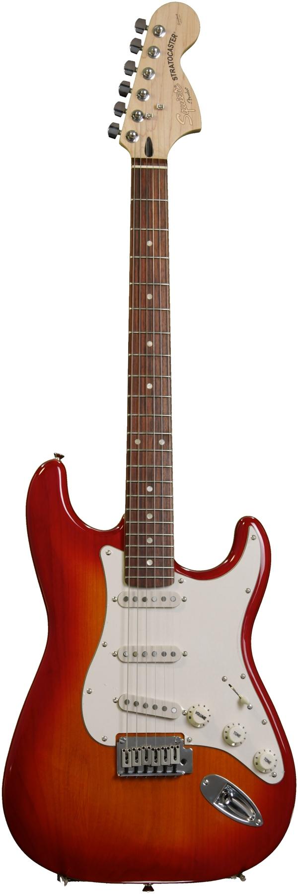 Đàn Guitar Squier Standard Stratocaster, Cherry Sunburst